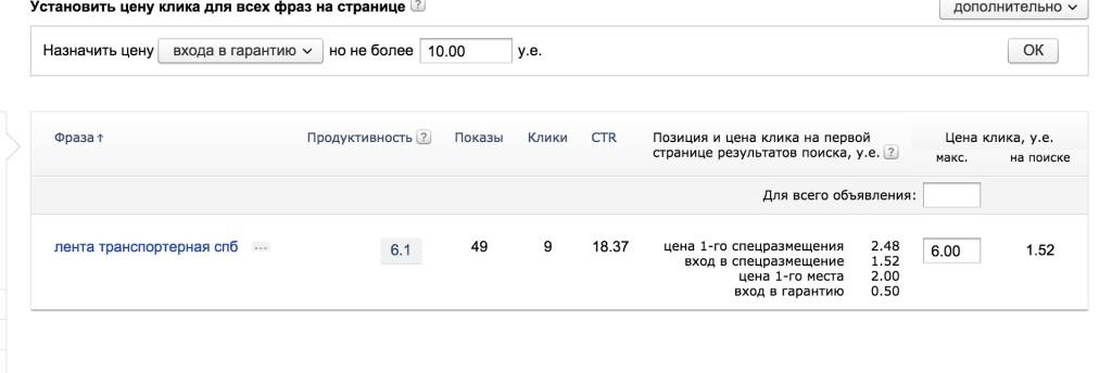 Ошибка-1-3 Яндекс Директ