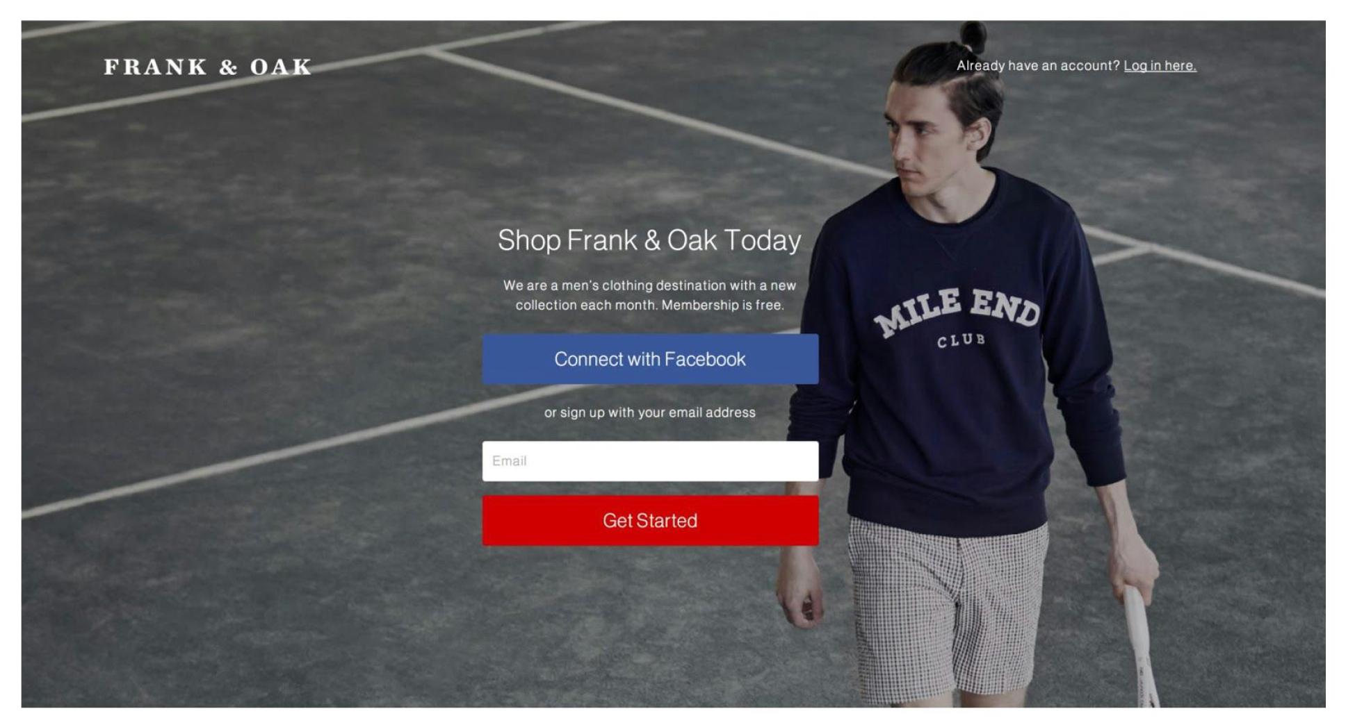 Shop Frank & Oak Today — «Покупайте товары Frank & Oak сегодня