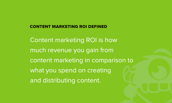 content marketing roi definition