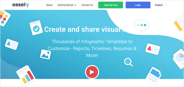 easelly is one of the free content creation tools