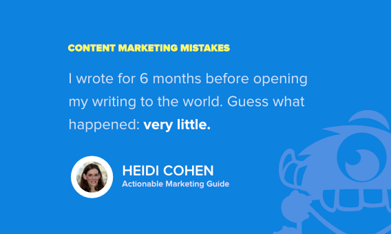 heidi cohen content marketing fails