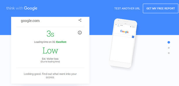 google mobile page speed report