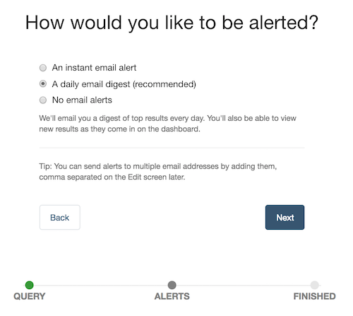 оповещения по электронной почте