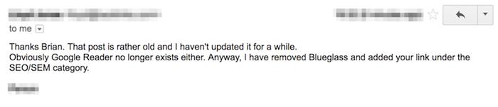 ответ по электронной почте