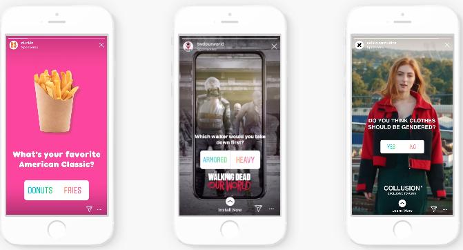 Интерактивная реклама Instagram Story
