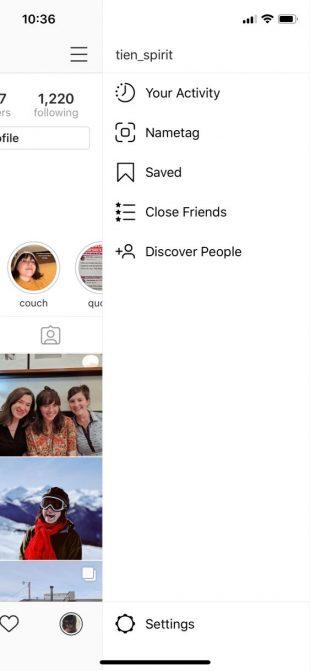 Настройки Instagram