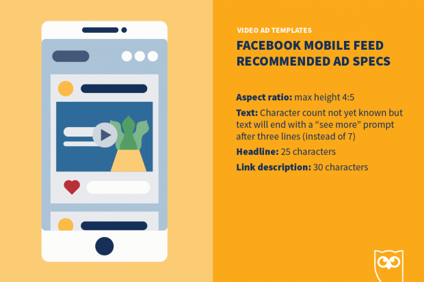 Facebook видео реклама мобильных спецификаций