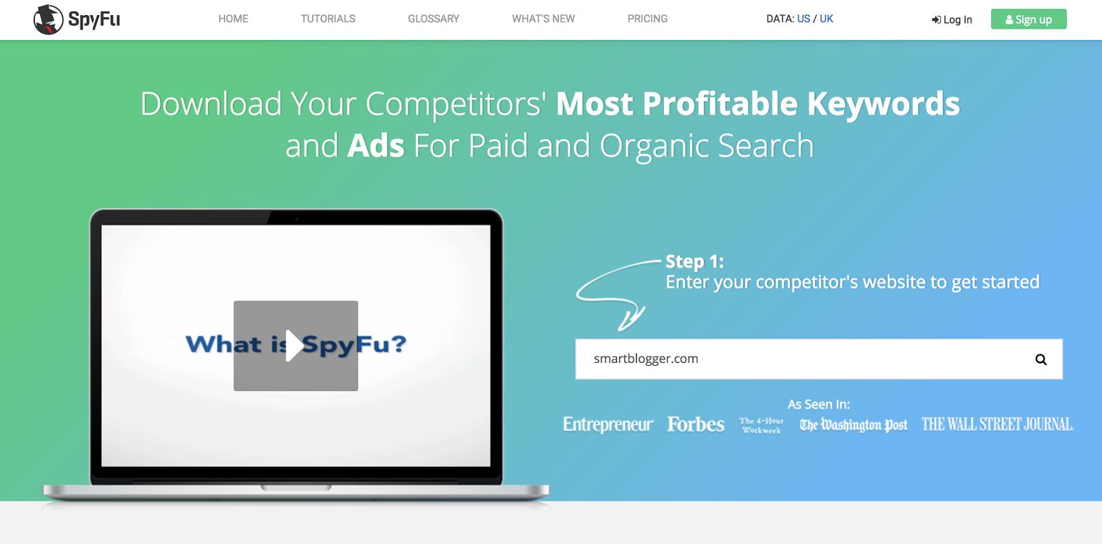 Инструмент SpyFu