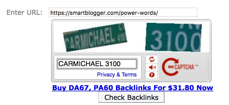 Сервис Backlinkwatch