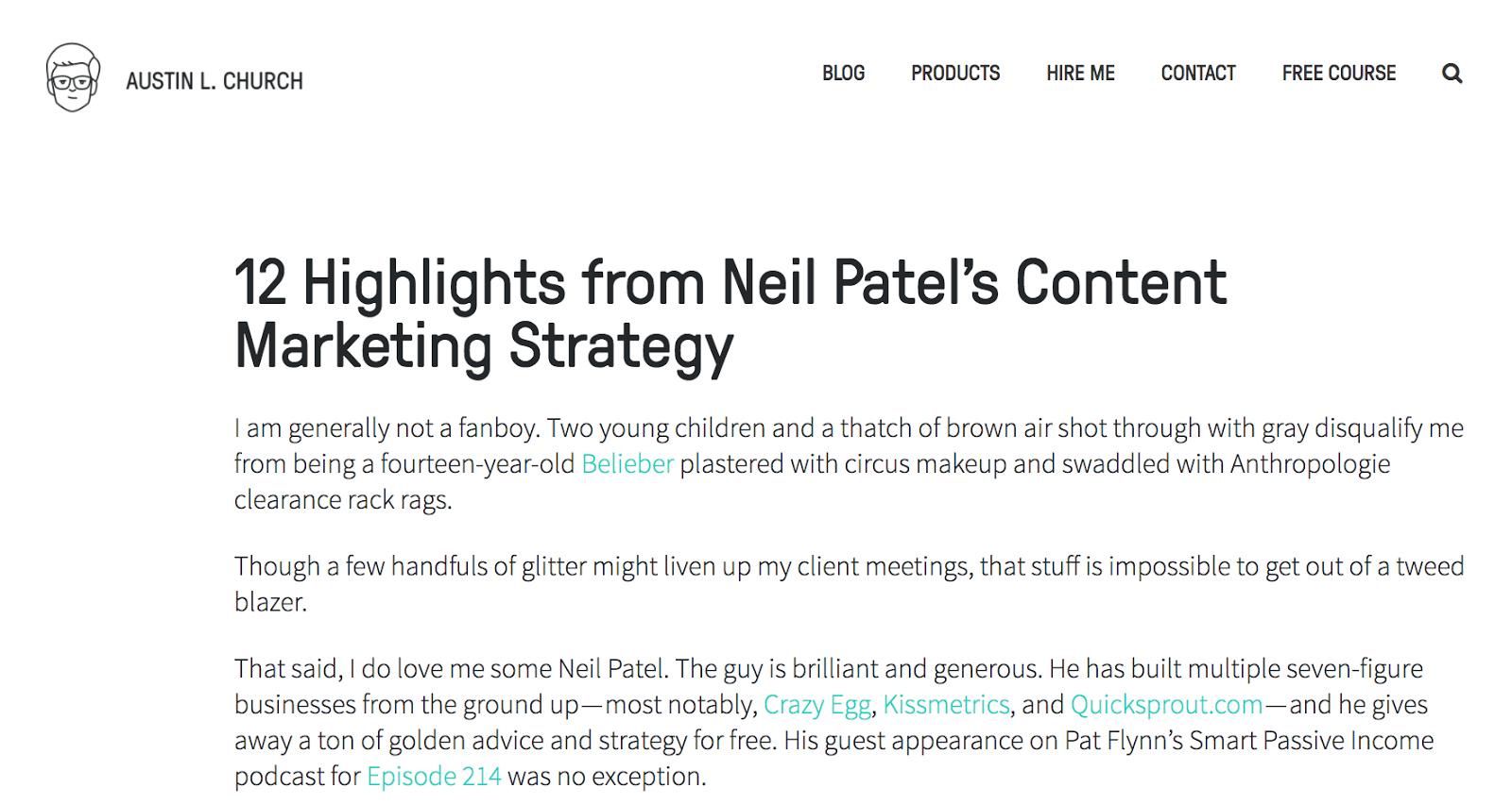 12 основных моментов стратегии контент-маркетинга Нила Пателя