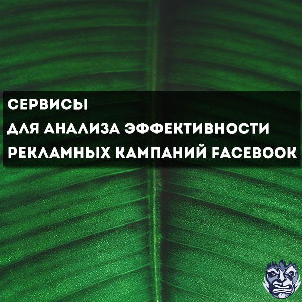 Какие сервисы есть в Facebook для анализа эффективности рекламных кампаний