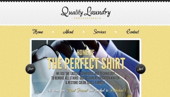 Хороший пример использования необычного желтого корпоративного цвета на сайте