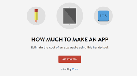 Инструмент для расчета стоимости разработки приложений How Much to Make an App