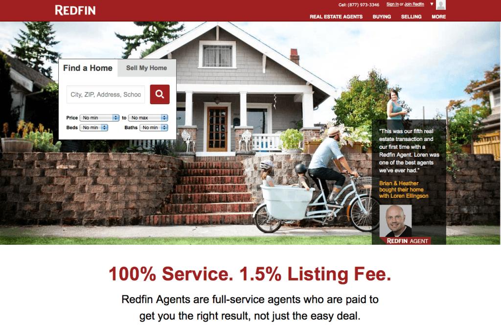 Landing page агентства недвижимости