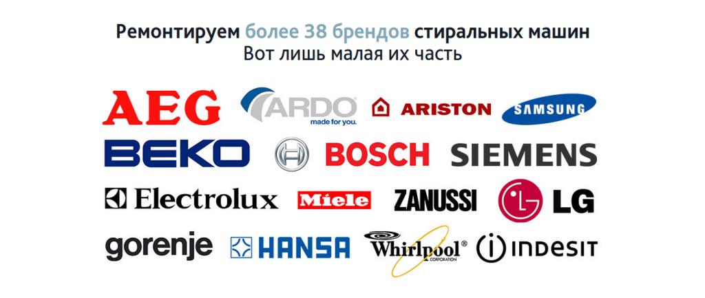 блок с логотипами стиральных машин