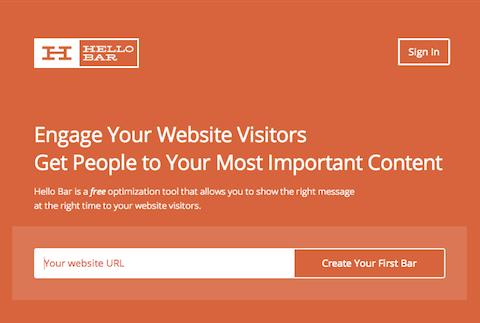 HelloBar - приложение для оптимизации веб сайтов
