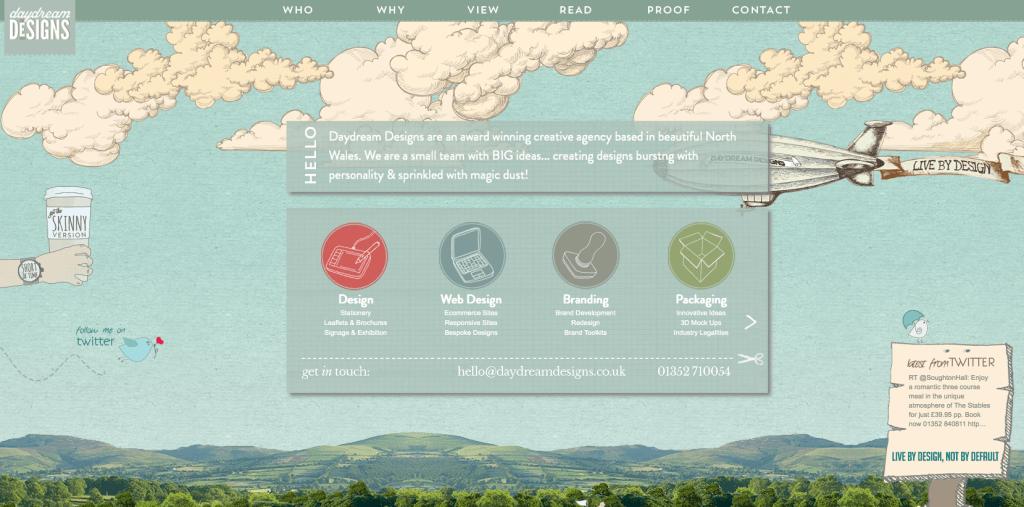 Пример landing page дизайн студии