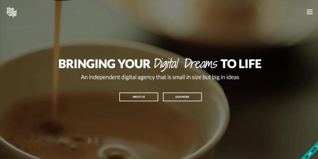 Пример лендинга для digital-агентства