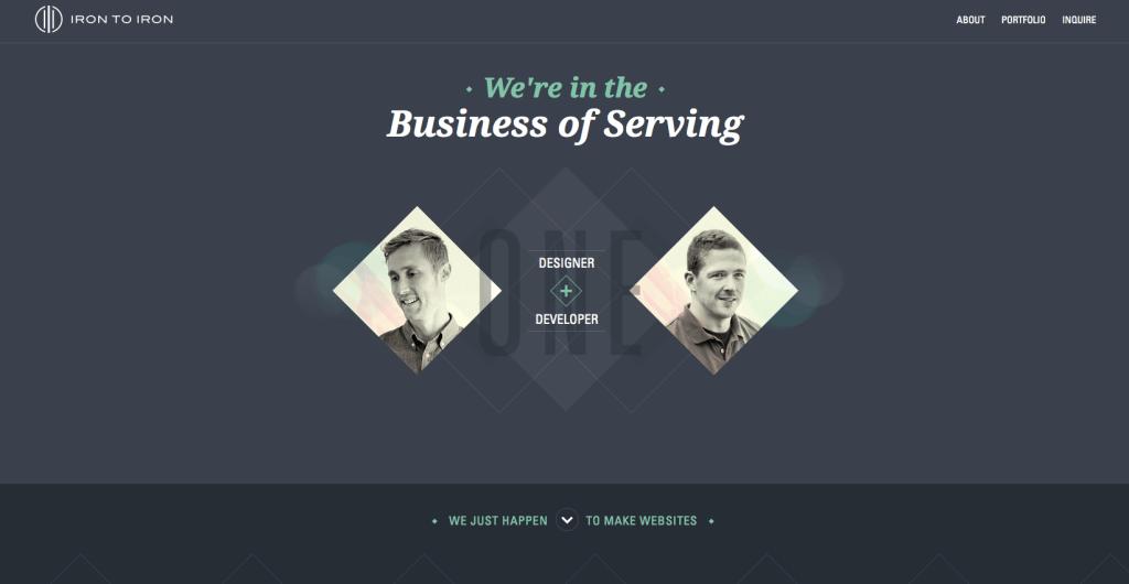 Пример landing page дизайн веб-студия